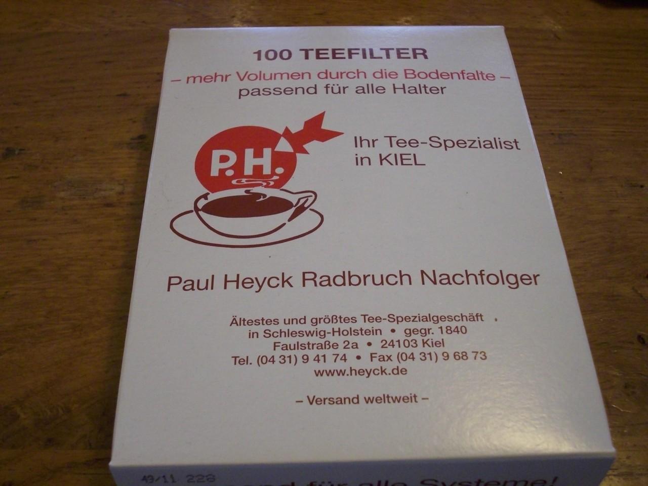 Tee-Filterpapier